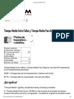 Calculador de MTBF y MTTR