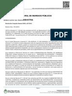 Resolución Afip y Agroindustria