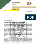 Invitation Letter 2017 - KOSHIKI OPEN CHAMPIONSHIP