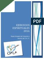 EJERCICIOS ESPIRITUALES. 2016 en A4