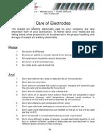 Hi-Alloy Care of Electrodes