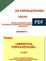 GENETICA POPULAŢIILOR