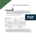 0 Spreadsheet Excel Perencanaan Jembatan Tipe Beton