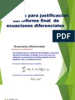 Ejercicios Para Justificación Del Informe Final de Ecuaciones