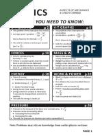 L1 Science Mechanics WorkBook