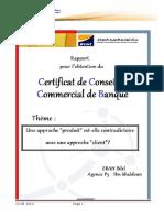 Rapport Certificat de Conseiller Commercial de Banque- Bilel Zran