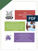 2016-17 utva ms student handbook
