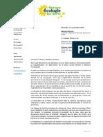 2016_12_19 Lettre Verte de Michèle Rubirola à Jean Claude Gaudin et à Sabine Bernasconi - Réhabilitation de La Place Louise Michel en square