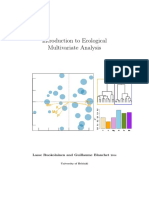 Introduction to Ecological Multivariate Analysis