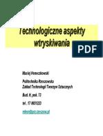 Technologiczne aspekty wtryskiwania1