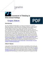 Assessment of Thinking in Educational Settings