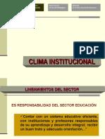 31726435-CLIMA-INSTITUCIONAL-CONVIVENCIA.ppt