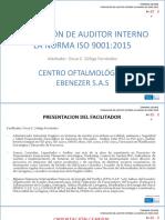 Curso Auditor Interno ISO 9001 v 2015 Mayo 2016 v2
