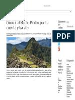 Cómo Ir Al Machu Picchu Por Tu Cuenta y Barato _ Viajes Nada Incluido