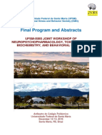 UFSM-ISBS JOINT WORKSHOP OF NEUROPSYCHOPHARMACOLOGY, TOXICOLOGICAL BIOCHEMISTRY, AND BEHAVIORAL BIOLOGY, Anfiteatro do Colégio Politécnico Universidade Federal de Santa Maria December 12-13, 2016 Santa Maria, RS, Brazil - Workshop Final Program and Abstracts