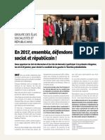 Tribune Janvier 2017 Groupe Socialiste et Republicain