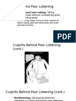 Culprits Behind Poor Listening
