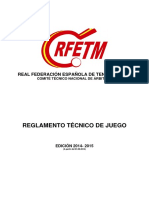 Reglamento Tecnico de Juego 2014-2015