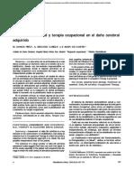 Evaluación funcional y terapia ocupacional en el daño cerebral adquirido
