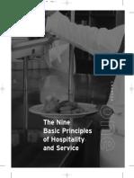 The Nine Basic Principles of Hospitality and Service