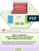 Database Design Learning Module