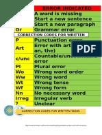 Correction Codes