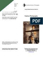 """ICP, """"Bibliografia Sobre Fotografia de Moda""""."""