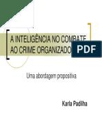 Karla Padilha - A Inteligencia No Combate Ao Crime Organizado