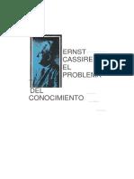 CASSIRER, Ernst - El Problema Del Conocimiento
