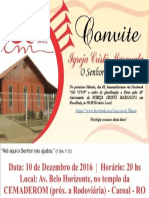 Convite 30 Anos ICM Rondônia
