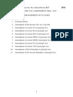 Income Tax Amendment Bill 2016