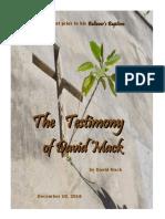 The Testimony of David Mack
