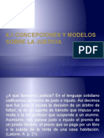 Concepciones y Modelos Sobre La Justicia