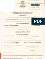 Certificato Operatore Termografico Livello 2 Ing. Andrea Ursini Casalena
