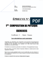ITPE I 2013 Physiques Composition 1 Cle264b29