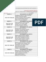 Listas e Informe de Feria