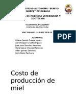 Costo de Producción de Miel 2