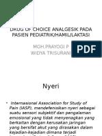 Drug of Choice Analgesik Pada Pasien Pediatrik