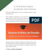 10 Hábitos de Estudio Usados Por Los Estudiantes Más Exitosos