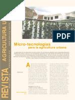 Micro-tecnologías para la agricultura urbana