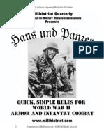 Hans und Panzer WWII Battle Game