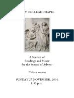 2016 Advent Service