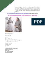 Berikut Ini Koleksi Baju Busana Muslim Gamis Terbaru 2017 Dari Kami Yang Terdiri Dari Gamis Maxi 2017