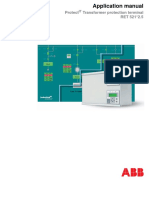 ABB- Application Manual Transformer Protection Terminal RET 521 2.5