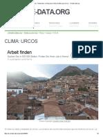 Clima Urcos_ Temperatura, Climograma y Tabla Climática Para Urcos - Climate-Data