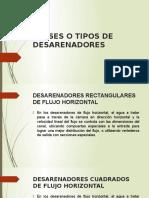 2da Parte Clases o Tipos de Desarenadores Julio Cesar Ugarte Gamboa