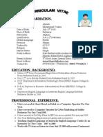 new Ahmad's CV