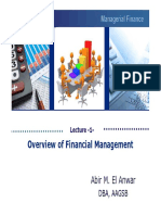 Overview of Financial Management