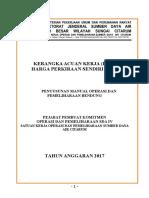 KAK Konsultan Manual OP Bendung 2017