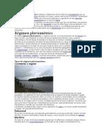 Datos pluviométricos